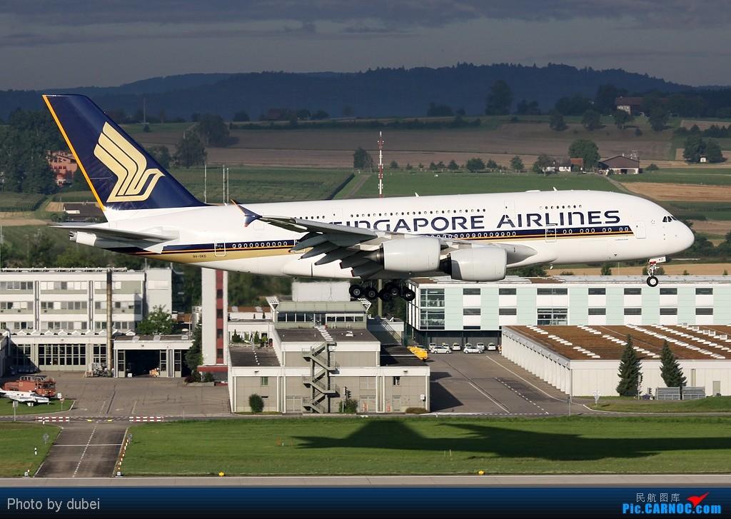 Re:[原创]好久没发图了,发几张前段时间拍的,证明我还活着 AIRBUS A380 9V-SKD 瑞士苏黎世机场