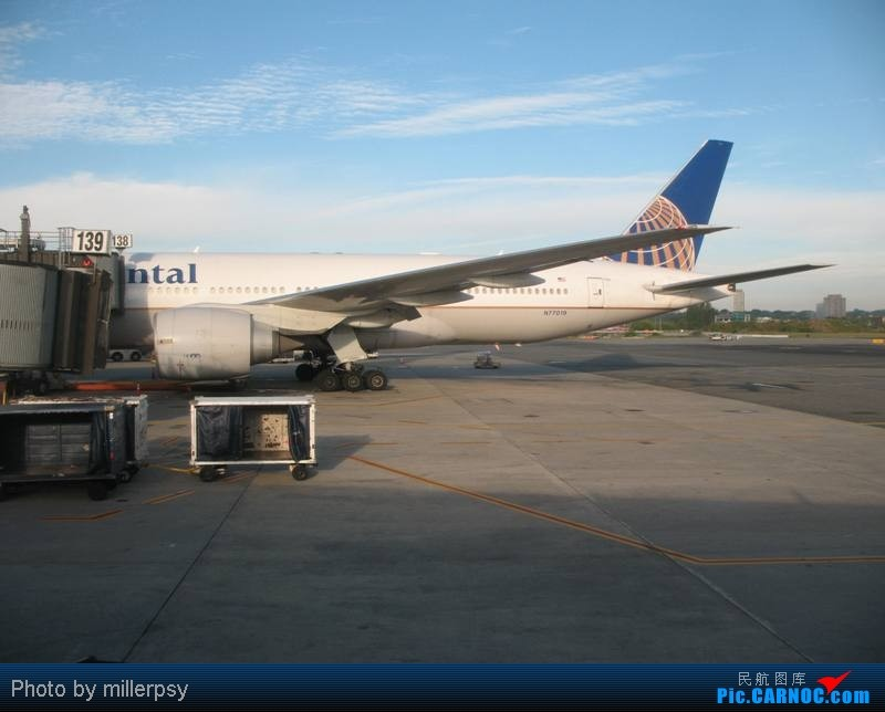 Re:[原创]大陆航空纽瓦克-波特兰之行 BOEING 777-200 N77019 美国纽瓦克机场