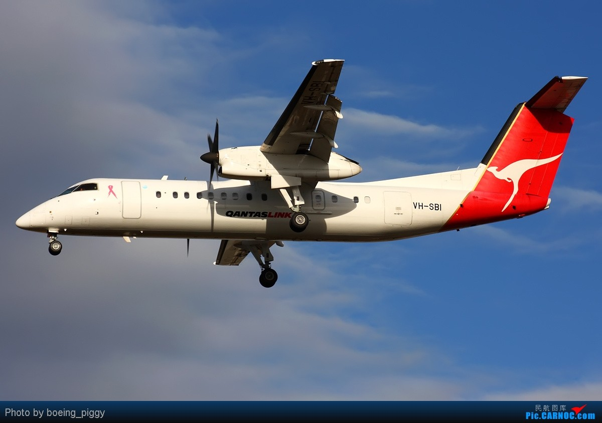 [原创][SYD&TSV联合公报] 热烈庆祝kmwangchen同学名草有主 QFA阖家偕同神秘嘉宾前来祝福 DE HAVILLAND CANADA DHC-8-315Q DASH 8 VH-SBI Townsville International Airport