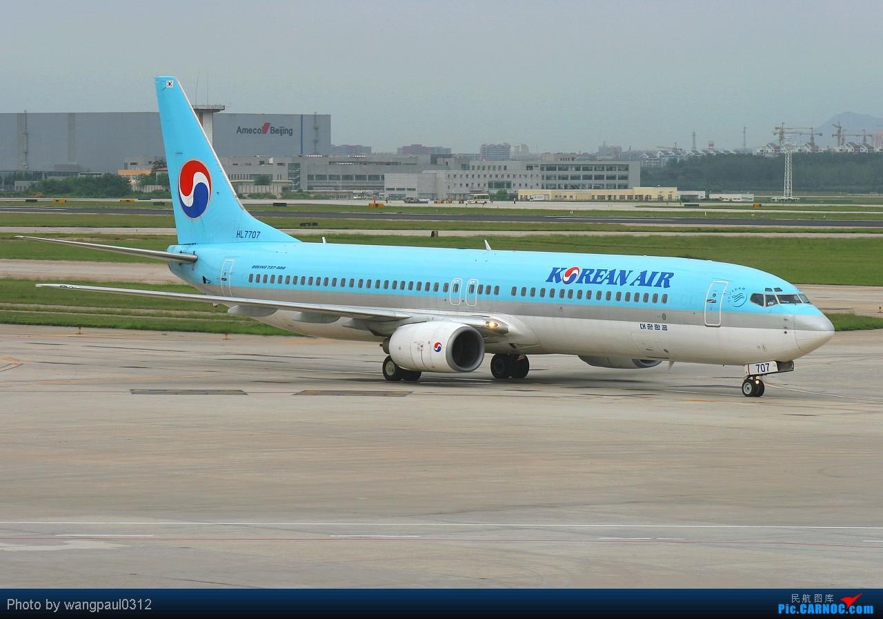 Re:[原创]★★★全套737系列,包括首都机场很难见到的CHINA AIR FORCE★★★ BOEING 737-9B5 HL7707 北京首都国际机场