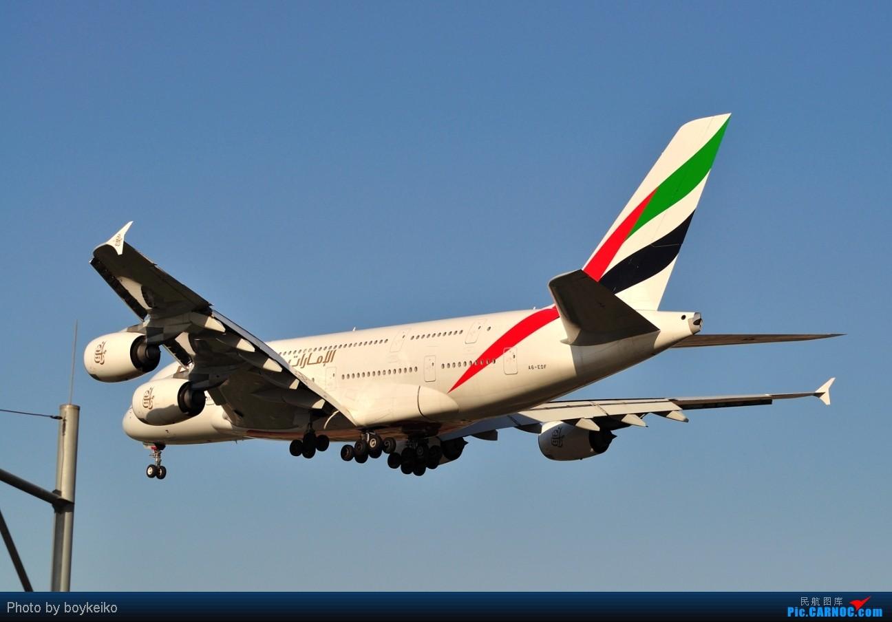 Re:[原创]升767了,发图庆祝,来自PEK东跑,内有外航若干,当然少不了380。 AIRBUS A380 A6-EDF 中国北京首都机场