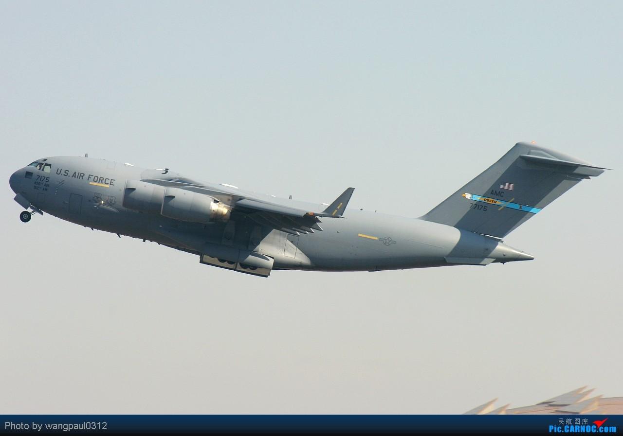 [原创]这次咱也搞点君事题材!当然是大老美的啦! MCDONNELL DOUGLAS C-17A GLOBEMASTER III 07-7175 北京首都国际机场