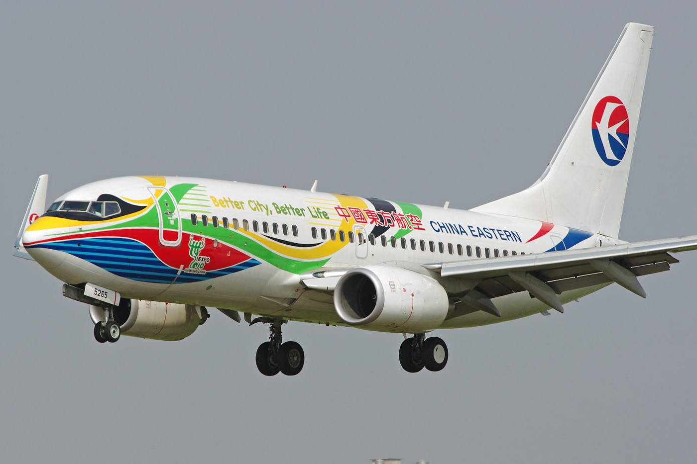 Re:[原创]换个角度、换种天气——非典型的KMG BOEING 737-700 B-5265 中国昆明巫家坝机场