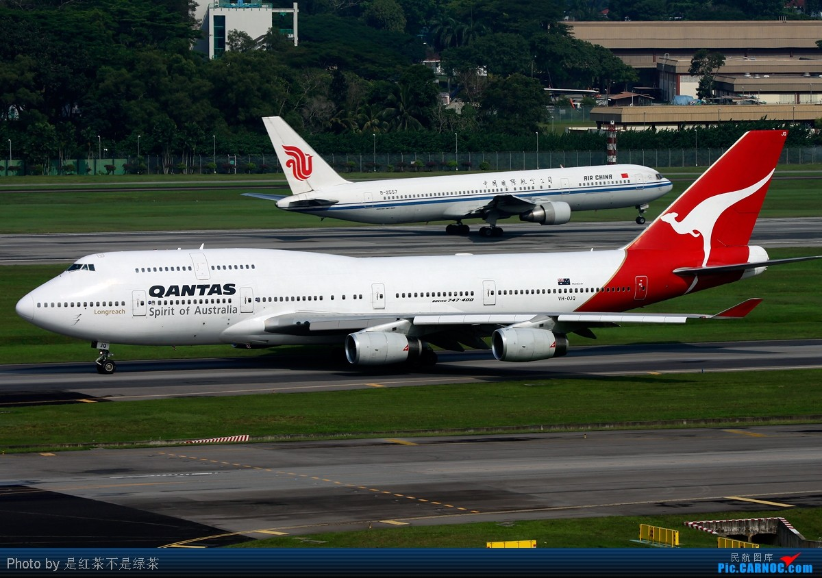 Re:[原创]【红茶拍机】十张照片 十二架飞机 起飞 降落 滑行 牵引——这里是新加坡樟宜国际机场 口味稍重 敬请谅解! BOEING 747-400 VH-OJO 新加坡樟宜机场