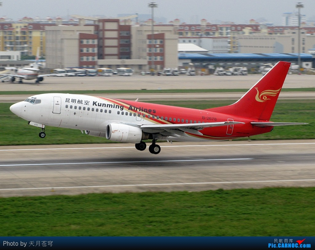 Re:[原创]【KMG】那些红彤彤的垂尾在办公室面前灰来灰去 BOEING 737-700 B-2678 中国昆明巫家坝机场
