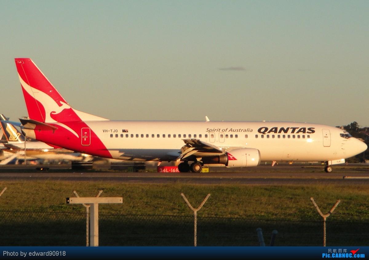 Re:[原创]【SYD Edward】旧图新P,第七弹,QANTAS家族带您告别2010,迎来2011 BOEING 737-476 VH-TJO 澳大利亚悉尼金斯福德·史密斯机场