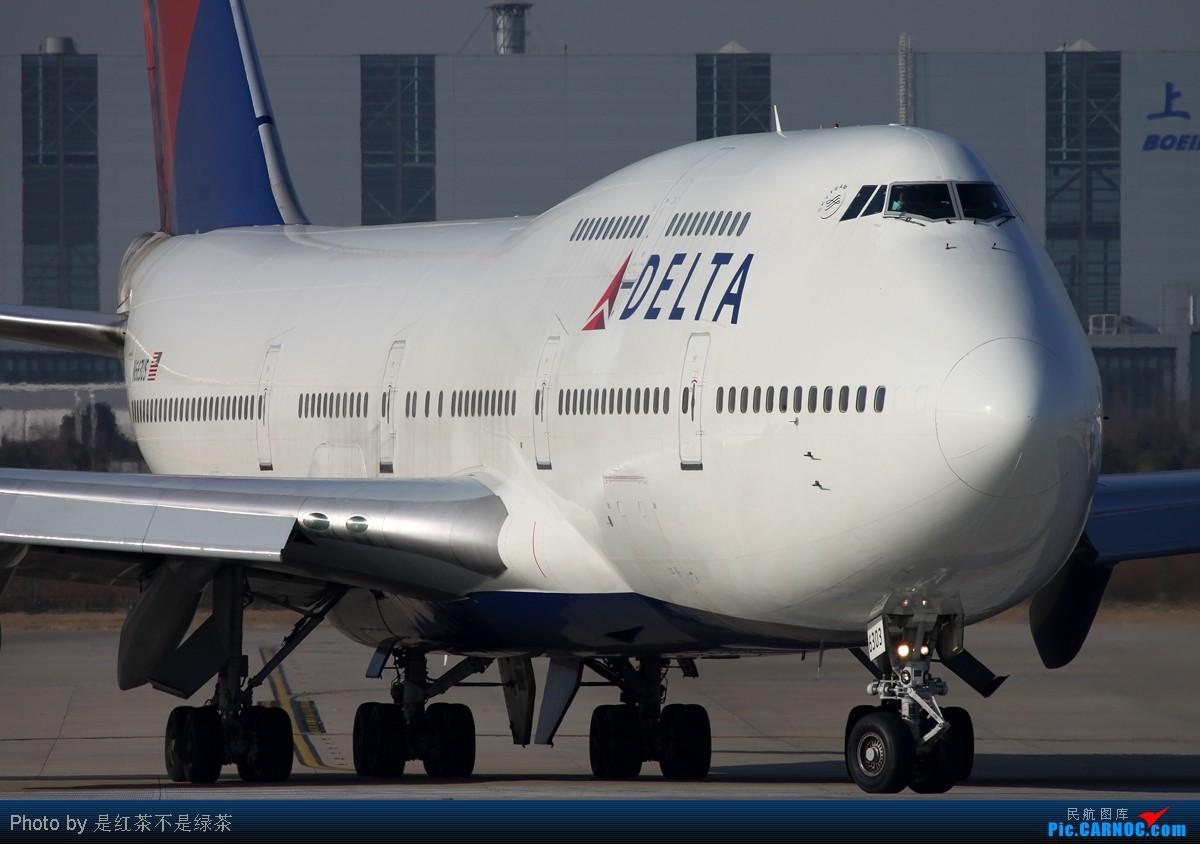 [原创]【红茶拍机】2011年新年第一天PVG拍机,各种角度,全部外航,最后一张准外航! BOEING 747-400 N663US 中国上海浦东机场