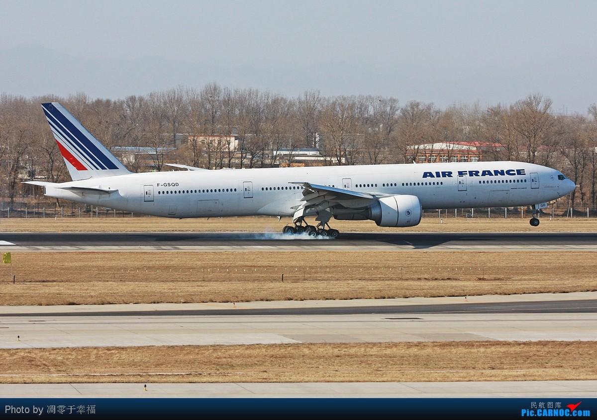 【BLDDQ】拥抱2011--36L,超强侧风,落地擦烟,冷!! BOEING 777-300ER F-GSQD 中国北京首都机场