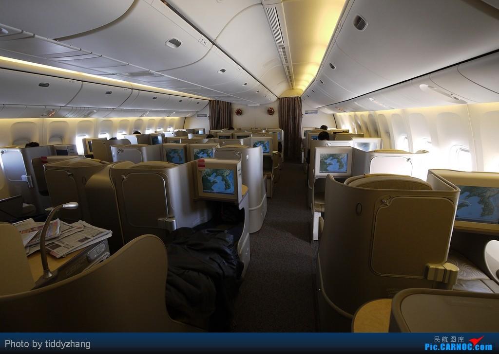 777ocm_来一张全机舱效果图,韩亚777-200er的商务舱座位并不多 (相比全日空的