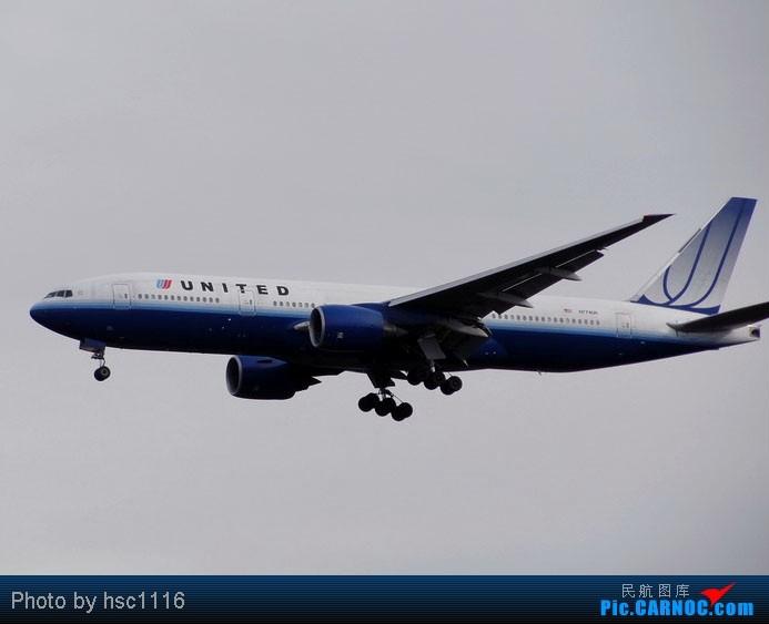 Re:[原创]纽约,华盛顿之行。关键词:Air Tran, Boeing 717, 无畏号航母,史密森航空博物馆,大雪延误,标题要长... BOEING 777-200 N774UA