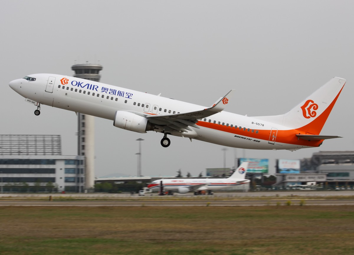 [原创]无敌天 变成 小烂天,还好,还好…… BOEING 737-800 B-5578 中国南京禄口机场