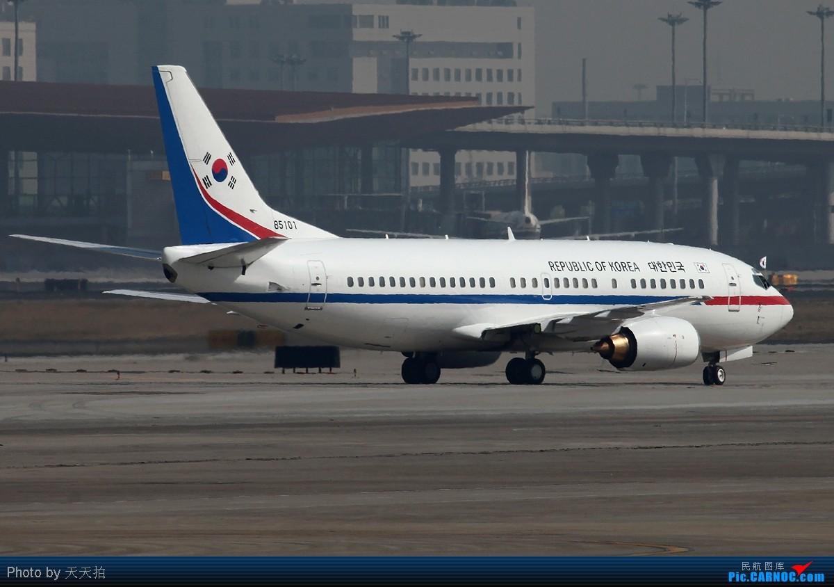 Re:西班牙总统座驾韩国空军737落地后机窗外飘扬着中韩国旗 BOEING 737-300 85101 中国北京首都机场