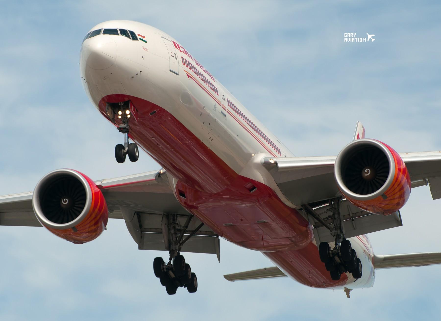 伦敦希斯罗机场27R,午后质感大图,不忽悠 BOEING 777-300 VT-ALJ 英国伦敦希思罗机场