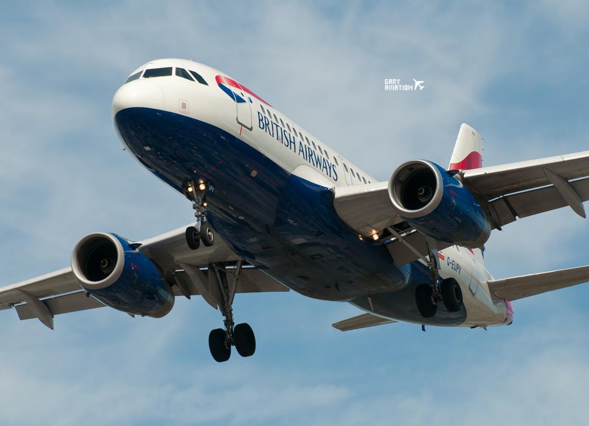 Re:[原创]今晚的温布利一定沸腾,飞机若干,今天伦敦街头一张。 AIRBUS A319-100 G-EUPV 英国伦敦希思罗机场