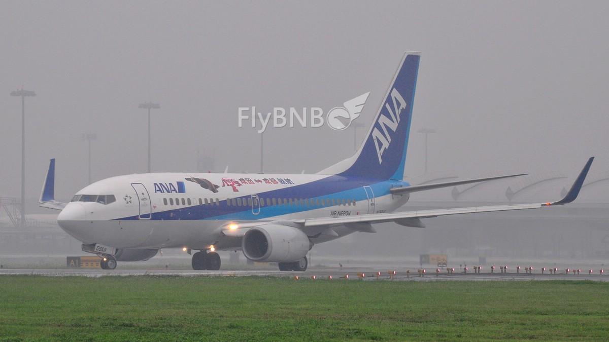 [原创]【CCFA成都空港缘分】 全日空NH948,等你很久了。大清早的冒这么大雨骑20公里我容易么我~~~新鲜出炉的图…… BOEING 737-700 JA09AN 中国成都双流机场