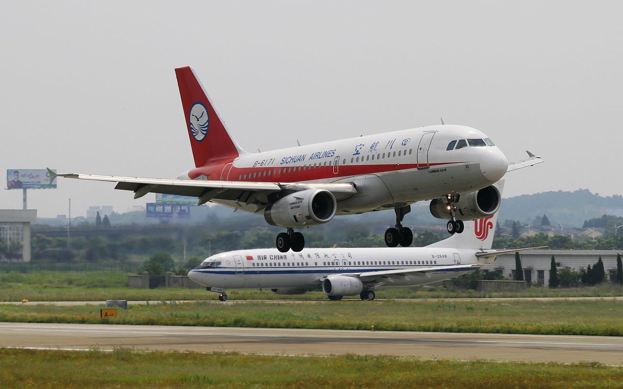 [原创]【NKG】23日午后大顶光下的落地 AIRBUS A319-100 B-6171 中国南京禄口机场