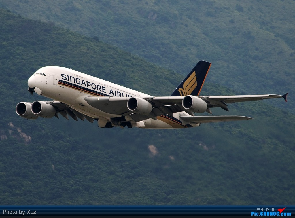 [原创]观景台,15港币,打A380,随便,就一图 AIRBUS A380 9V-SKA 中国香港赤鱲角国际机场