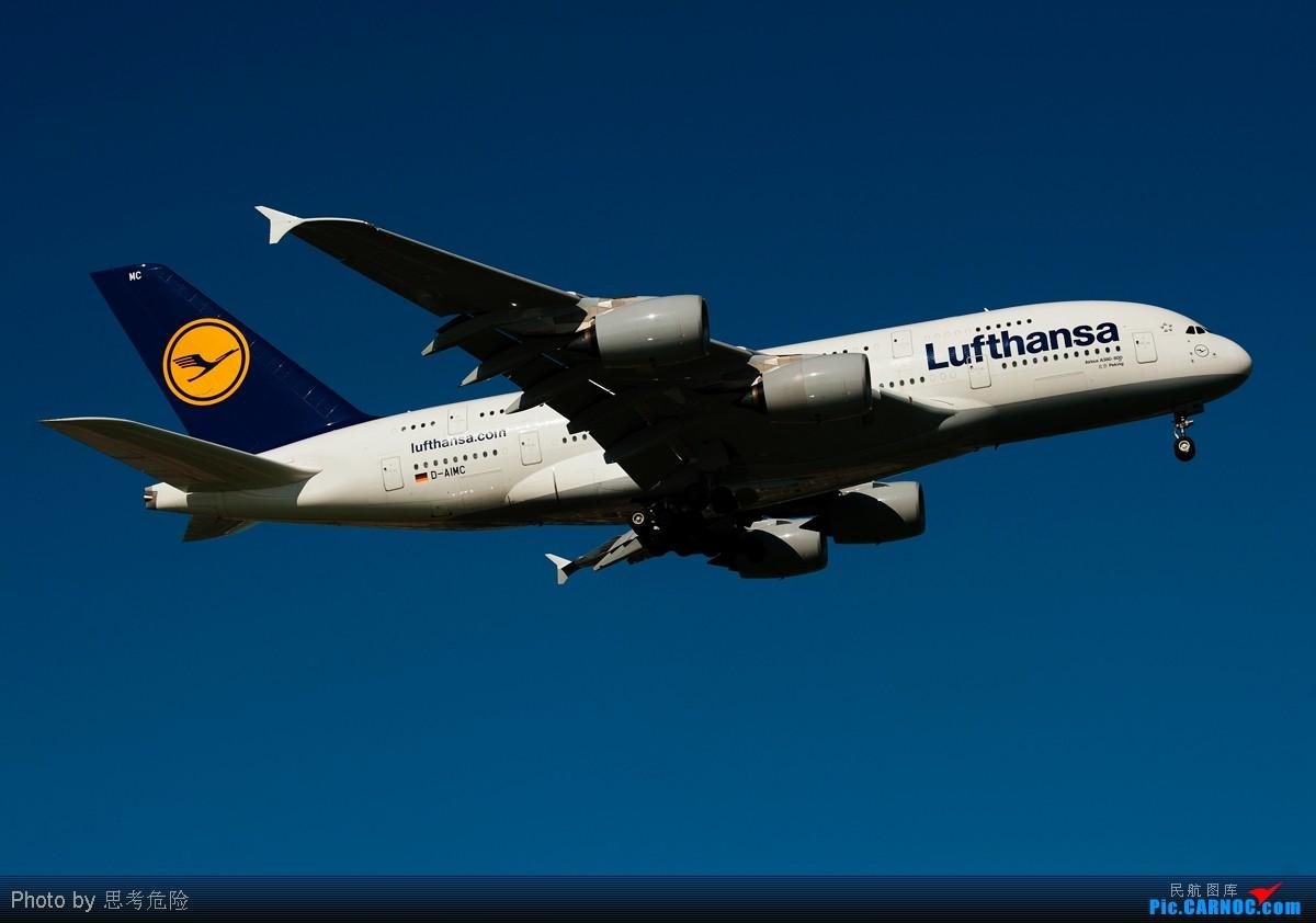 """[原创]【思考危险】北京最近好天不多呀,没想到还真拍的好货啦——汉莎A380""""北京号"""" AIRBUS A380 D-AIMC 北京首都国际机场"""