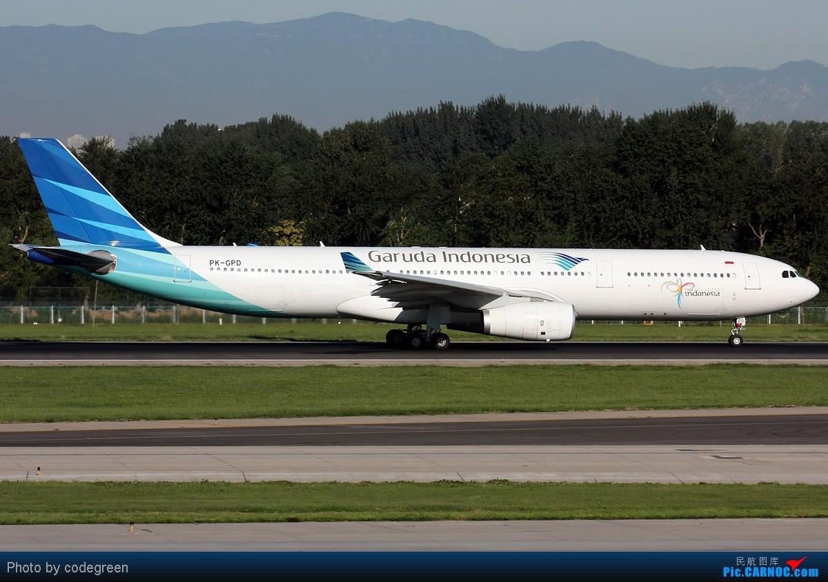 Re:[原创]西跑上的330们 -- 5个小时之内在PEK 36L跑道上的330 AIRBUS A330-300 PK-GPD 中国北京首都机场