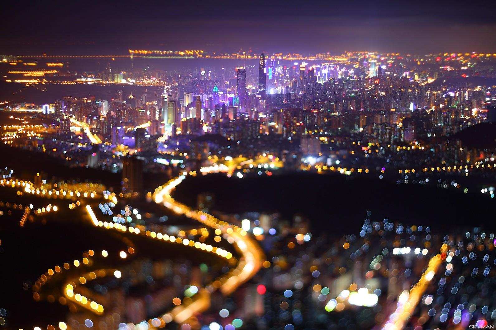 Re:[原创]----夜  色  鸟瞰鹏城----