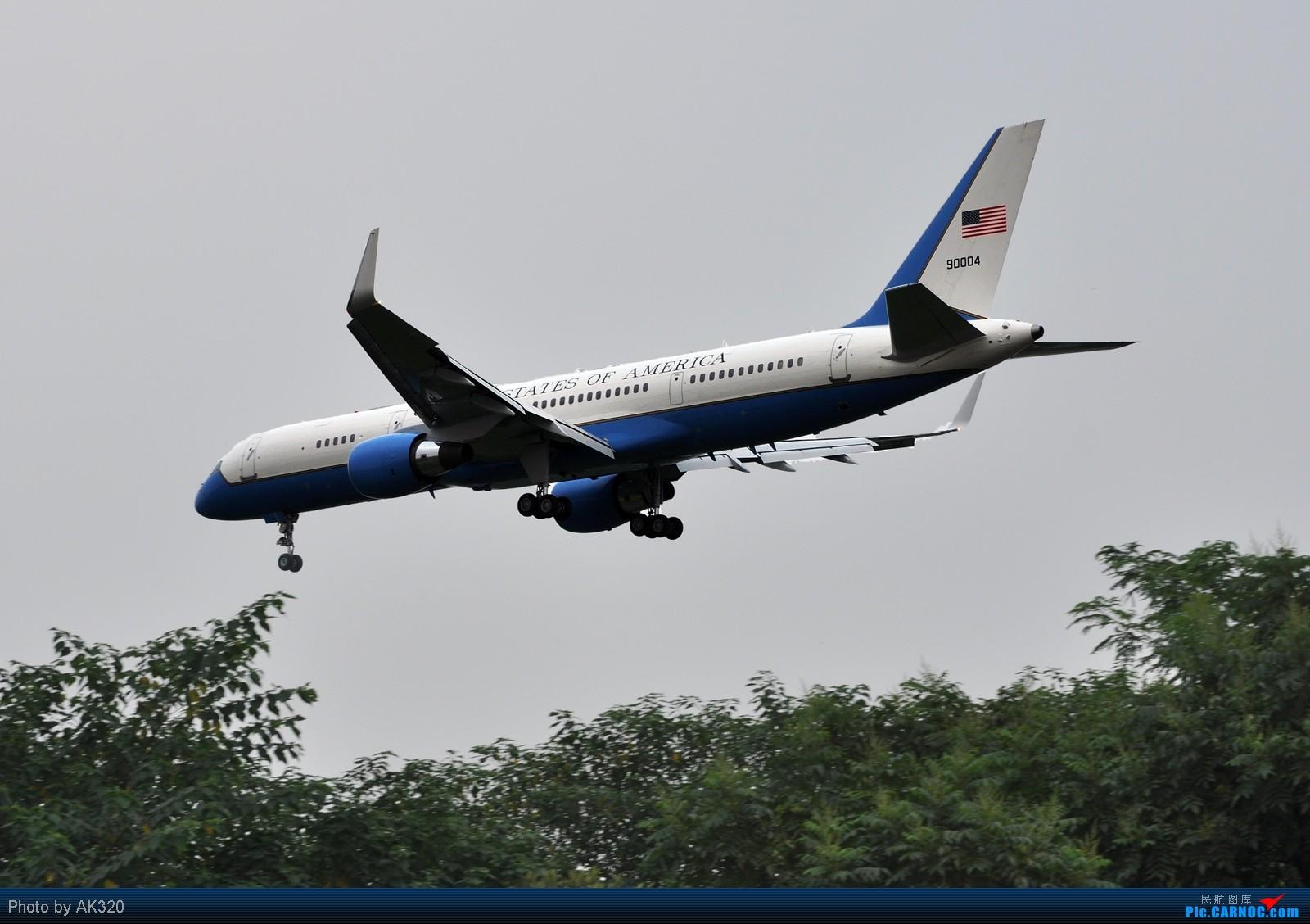 Re:【CTU】热烈欢迎美国副总统拜登先生访问成都,C-21和C-17A,降落真漂亮,发图 BOEING C-32A (757-2G4) 90004 中国成都双流机场