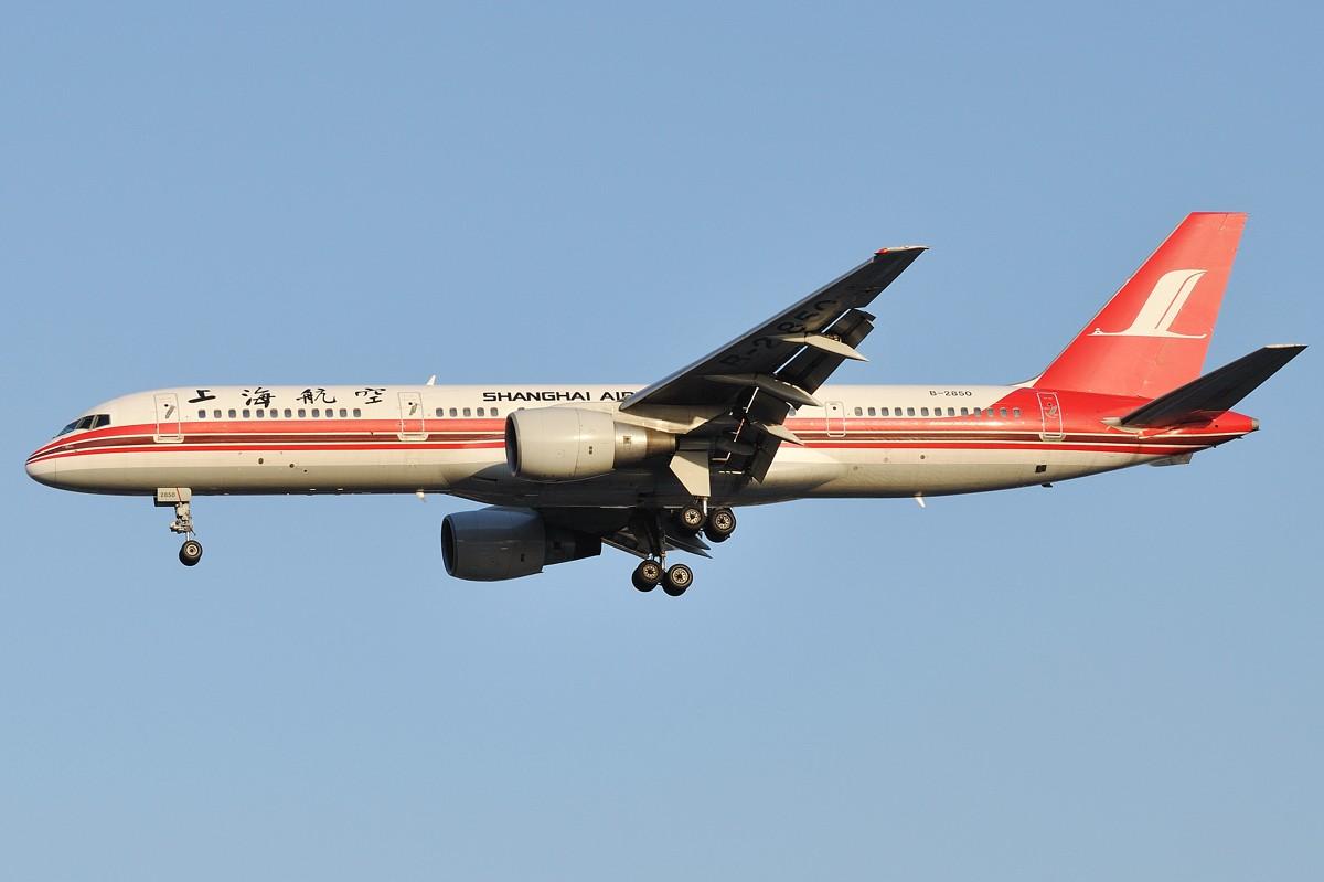 [原创]入秋的虹桥36R黄昏 真的很美 BOEING 757-231 B-2850 中国上海虹桥机场