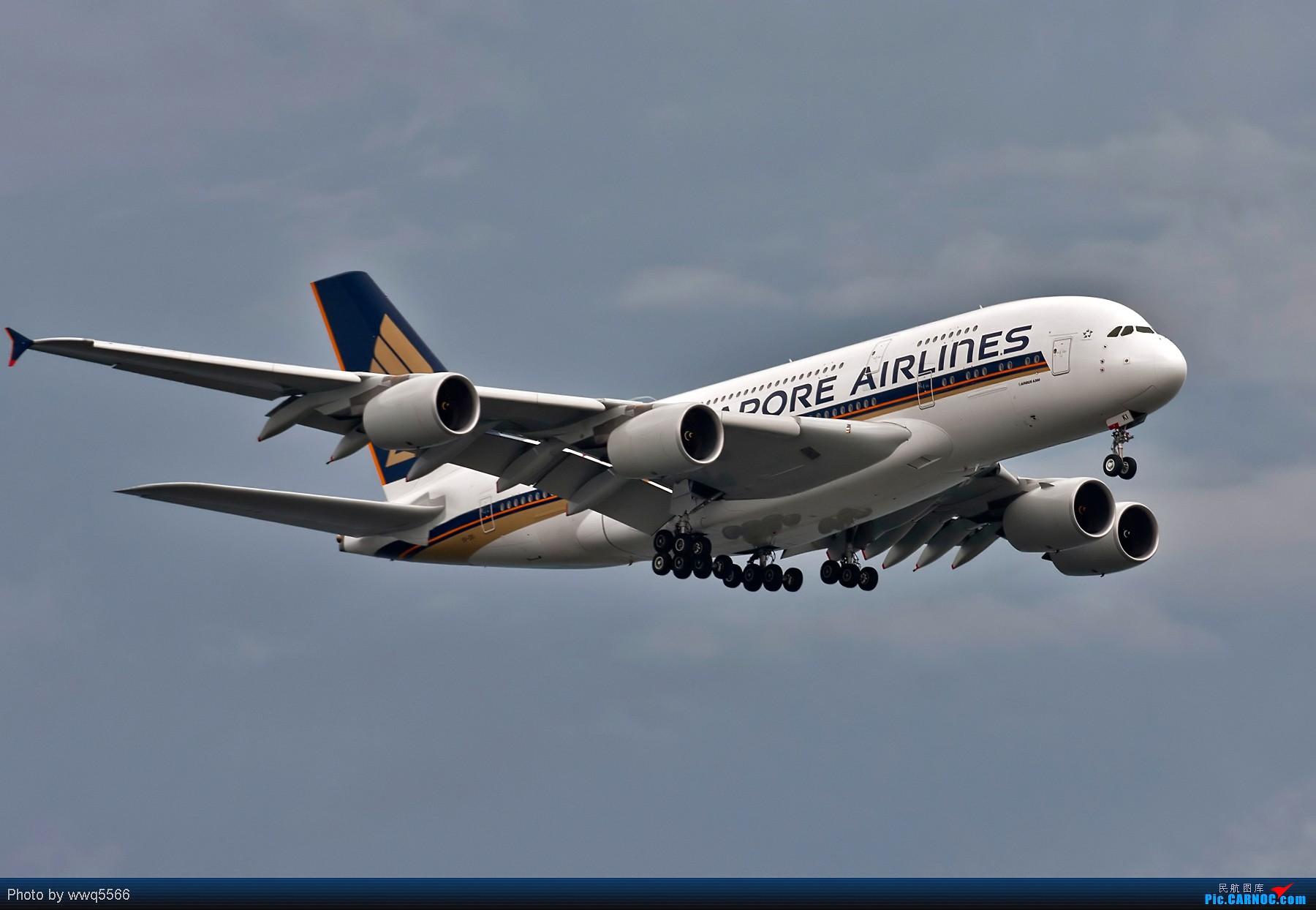 Re:[原创][5566贴图]1200pix大图  一组380 A380-800 9V-SKI 中国北京首都机场