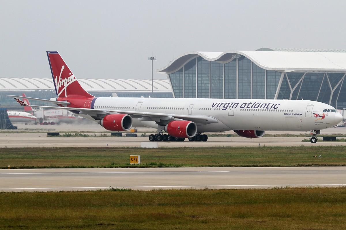 Re:[原创]【PVG】今天空客A340停产,这款外形优美但并不很成功的机型也进入了寿命的倒计时。 AIRBUS A340-600 G-VNAP 中国上海浦东机场