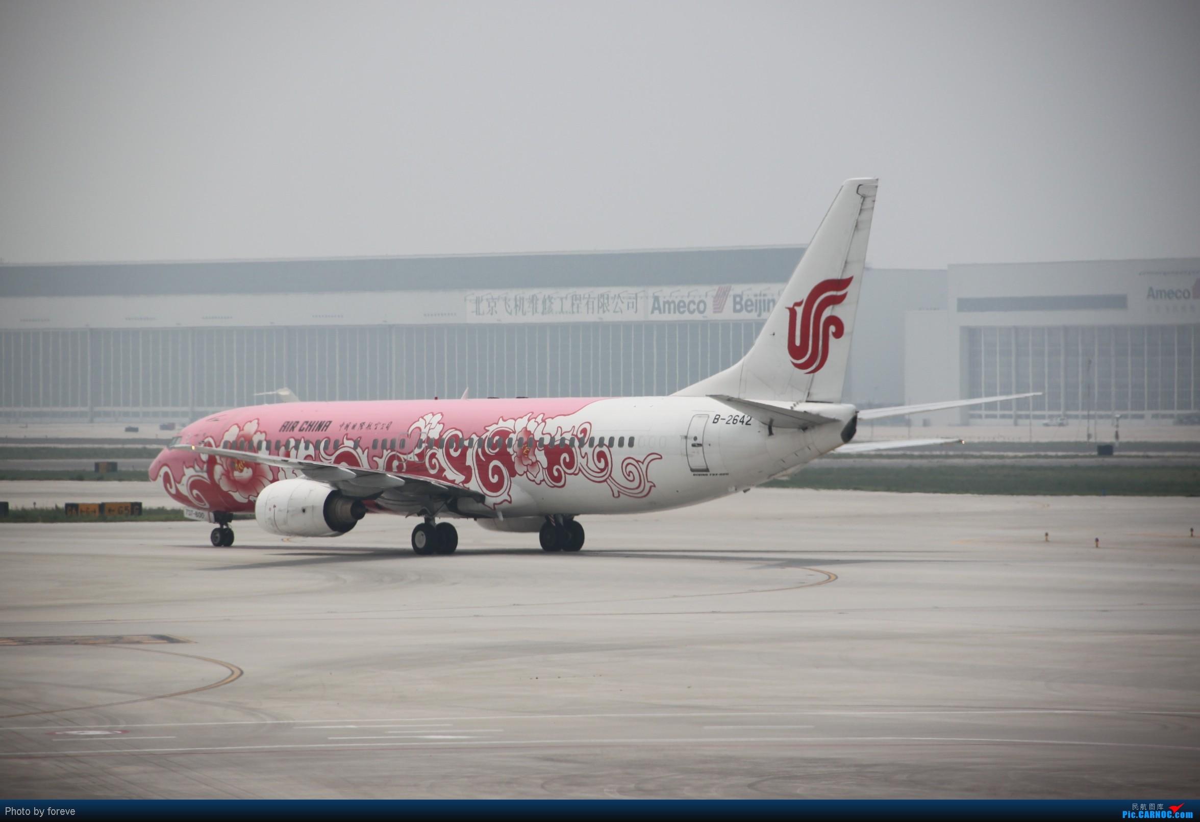 Re:[原创]发点藏货,6月去意大利时在首都机场侯机时拍的 BOEING 737-800 B-2642 中国北京首都机场