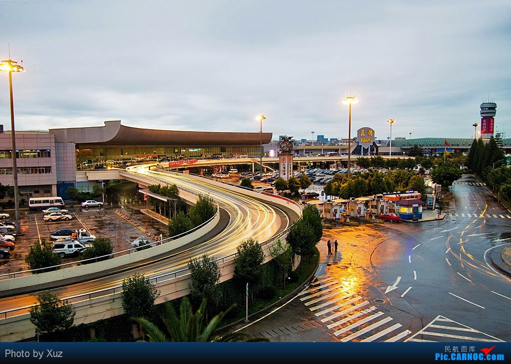 [原创]同威猛同一位置,也贴流光溢彩的巫家坝    中国昆明巫家坝机场