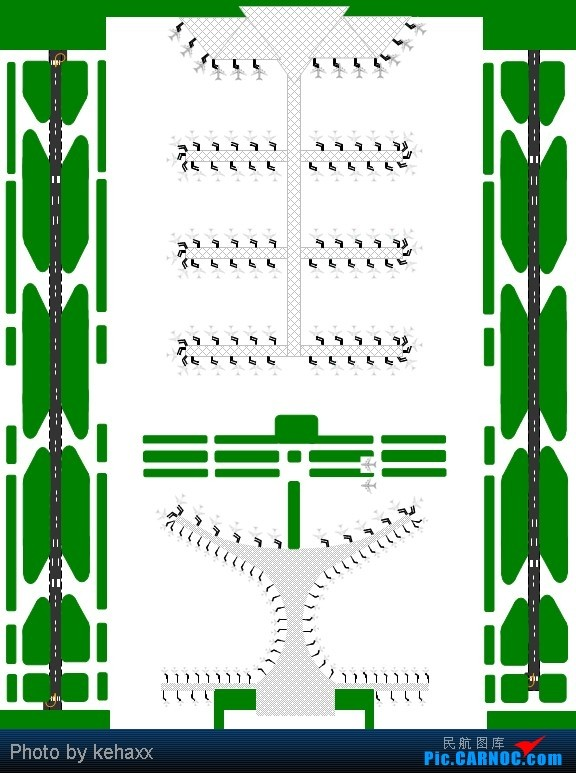 >>[原创]*** 昆明长水国际机场 t1 / t2航站楼廊桥机位平面图