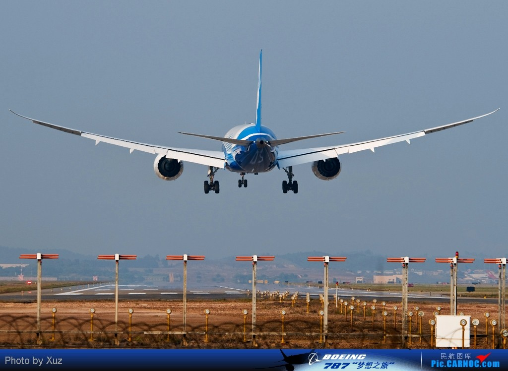 Re:[原创][787梦想之旅·广州站]站在02L跑道头迎接787,过顶声音非常小 BOEING 787 N787BX 中国广州白云机场