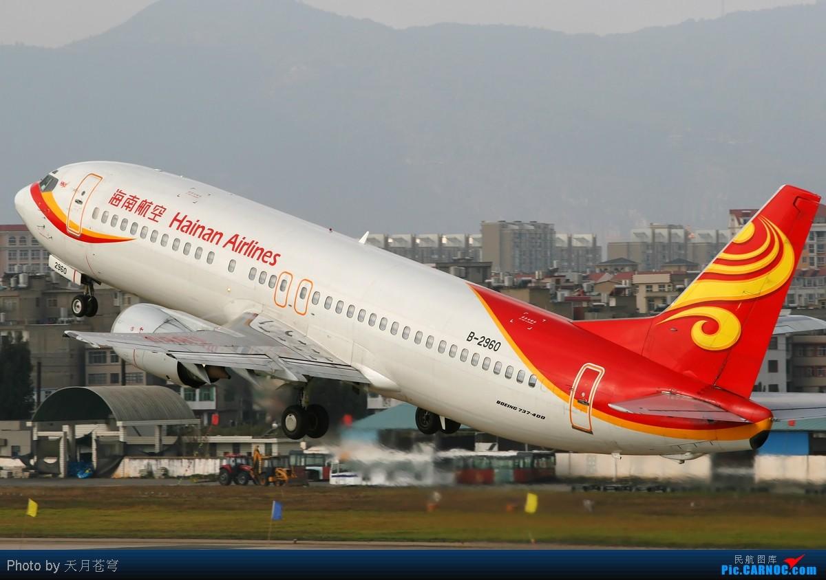 Re:[原创]【KMG】最近天气不给力,无法拍机,翻点杂图来发发 BOEING 737-400 B-2960 中国昆明巫家坝机场