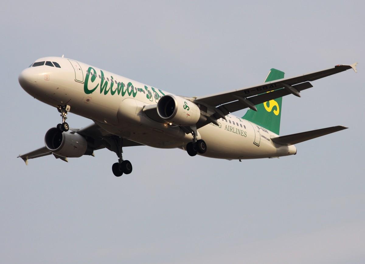 [原创]年底,冒泡发图。 AIRBUS A320-200 B-6841 中国上海浦东机场