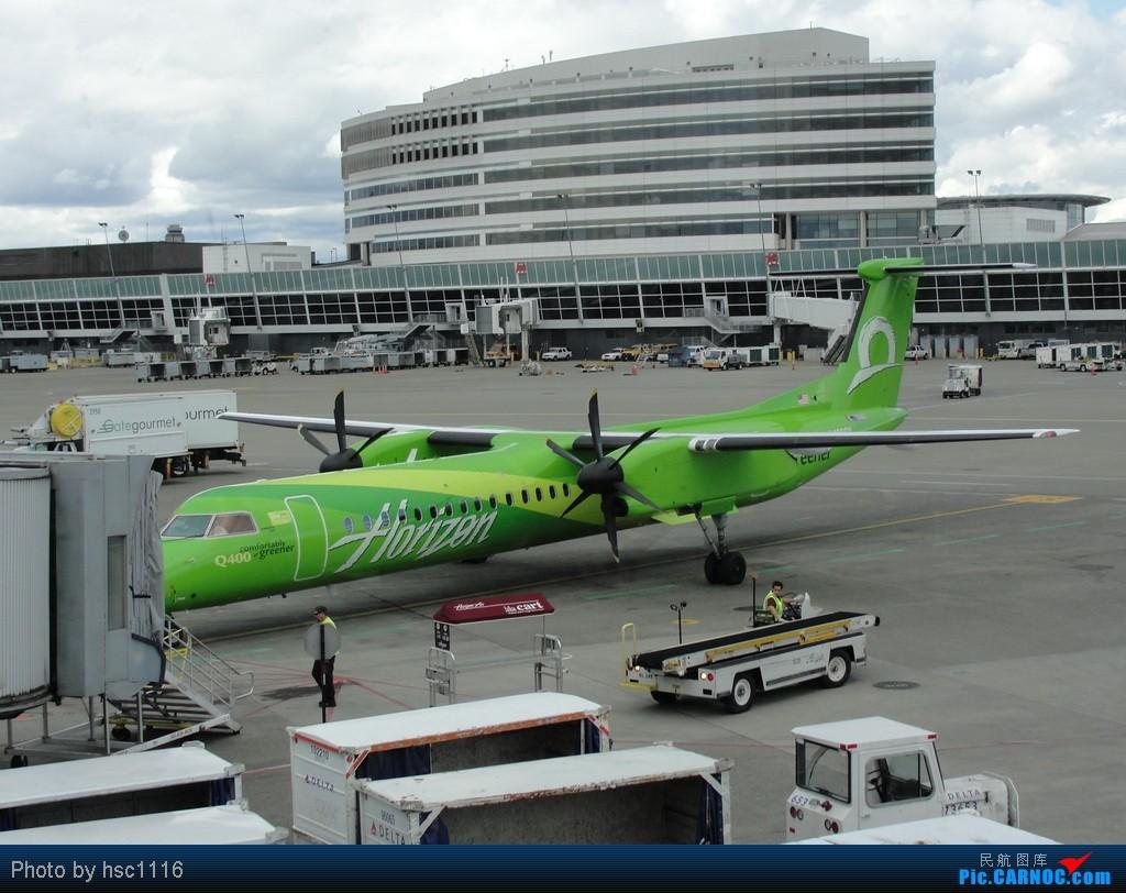 Re:[原创]5月份的回国,冷饭必须炒了。KMSP-KSEA-ZBAA-ZHHH. DASH-8 Q400  美国西雅图机场