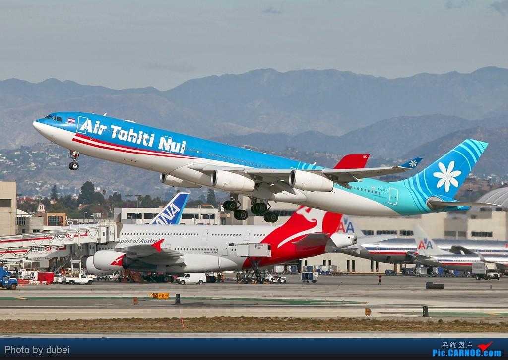 Re:[原创]好久没发图了,发两张上来看看 - 美国之旅 AIRBUS A340-400 F-OJGF 美国洛杉矶机场