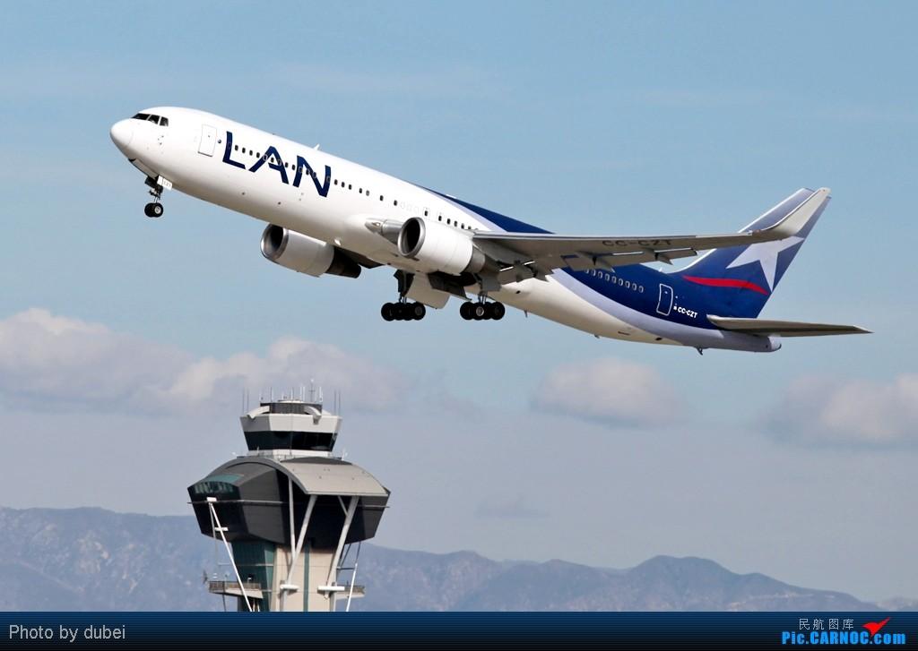 Re:[原创]好久没发图了,发两张上来看看 - 美国之旅 BOEING 767-200 CC-CZT 美国洛杉矶机场