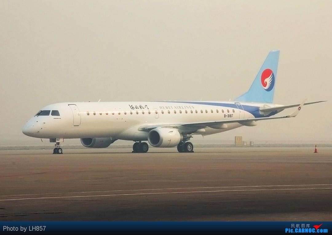 Re:[原创]河北航190、G450和737,闪灯的海航767和腾飞的香港快运 EMBRAER E-190 B-3187 中国石家庄正定机场
