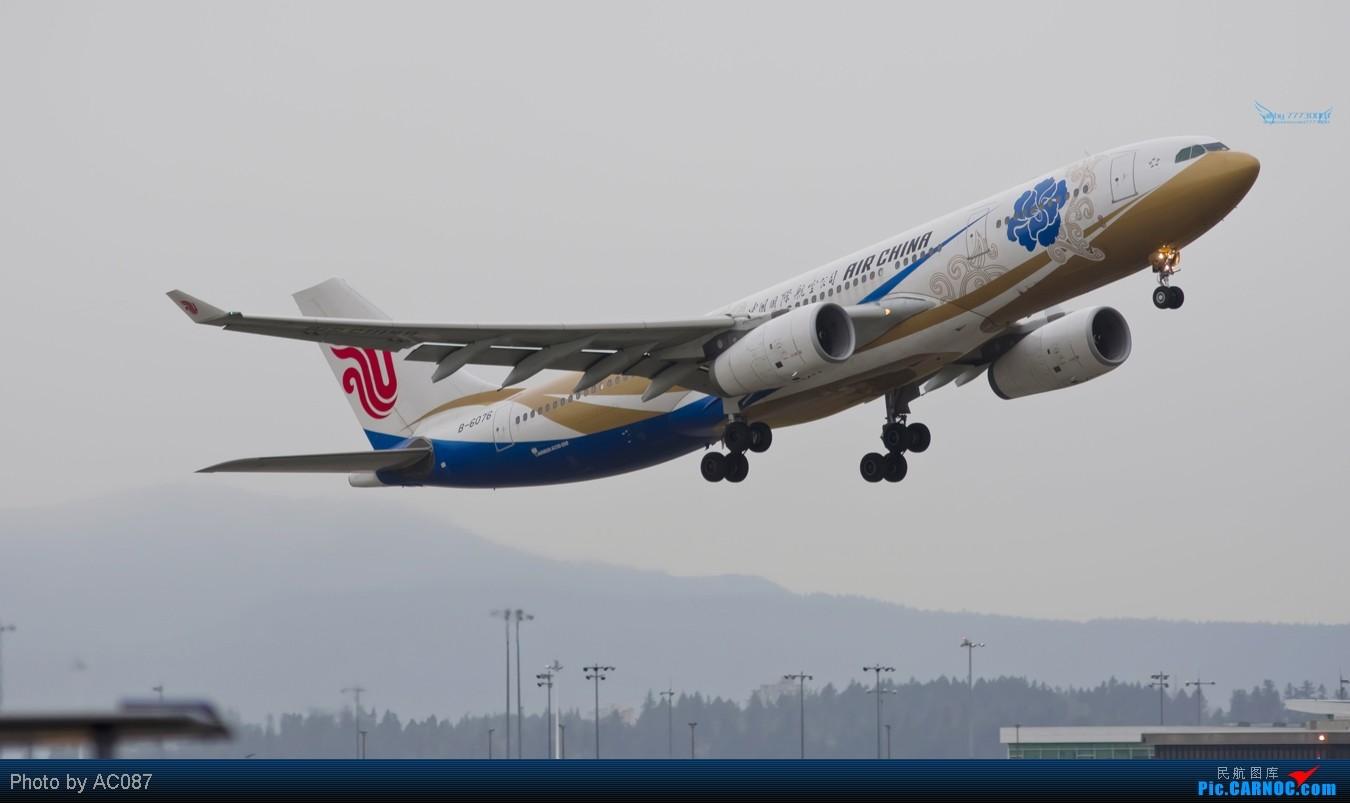 Re:[原创]【杭州飞友会】AC087温哥华即日高清拍机,国航紫宸侧风降,加航77W(爆闪),大韩航空,Transat,东航起飞雪山背景,美女内场,感谢尖兵M9指点!不看后悔 AIRBUS A330-200 B-6076 加拿大温哥华机场