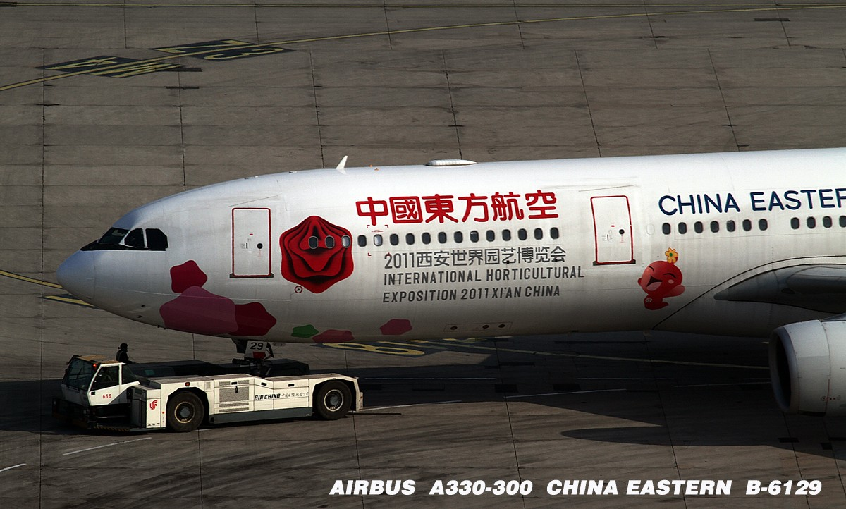 [原创]PEK空客系 P.S:PM2.5的最大危害就是--拍机不爽! AIRBUS A330-300 B-6129 中国北京首都机场