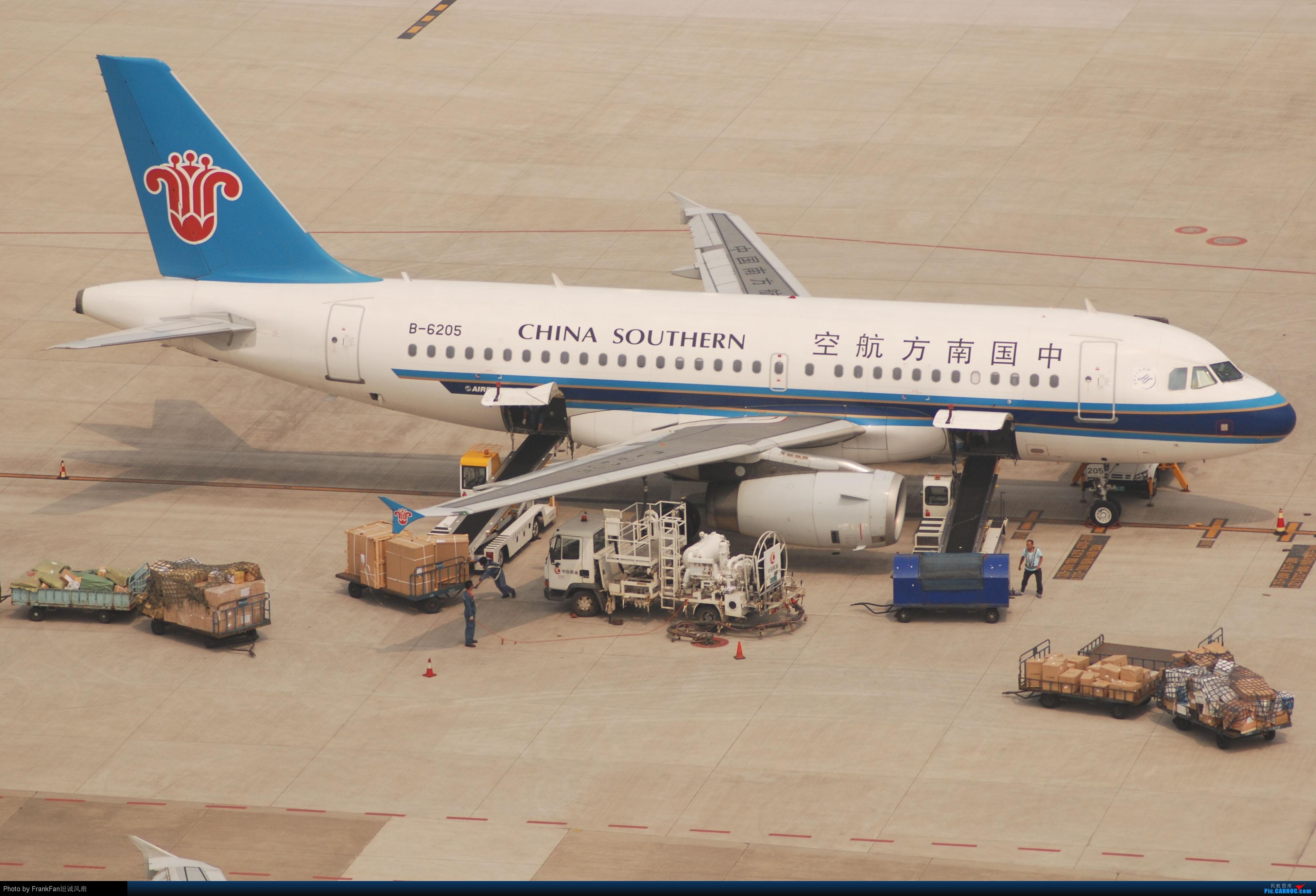 NKG老图..天气还是霾== AIRBUS A319-100 B-6205 中国南京禄口机场