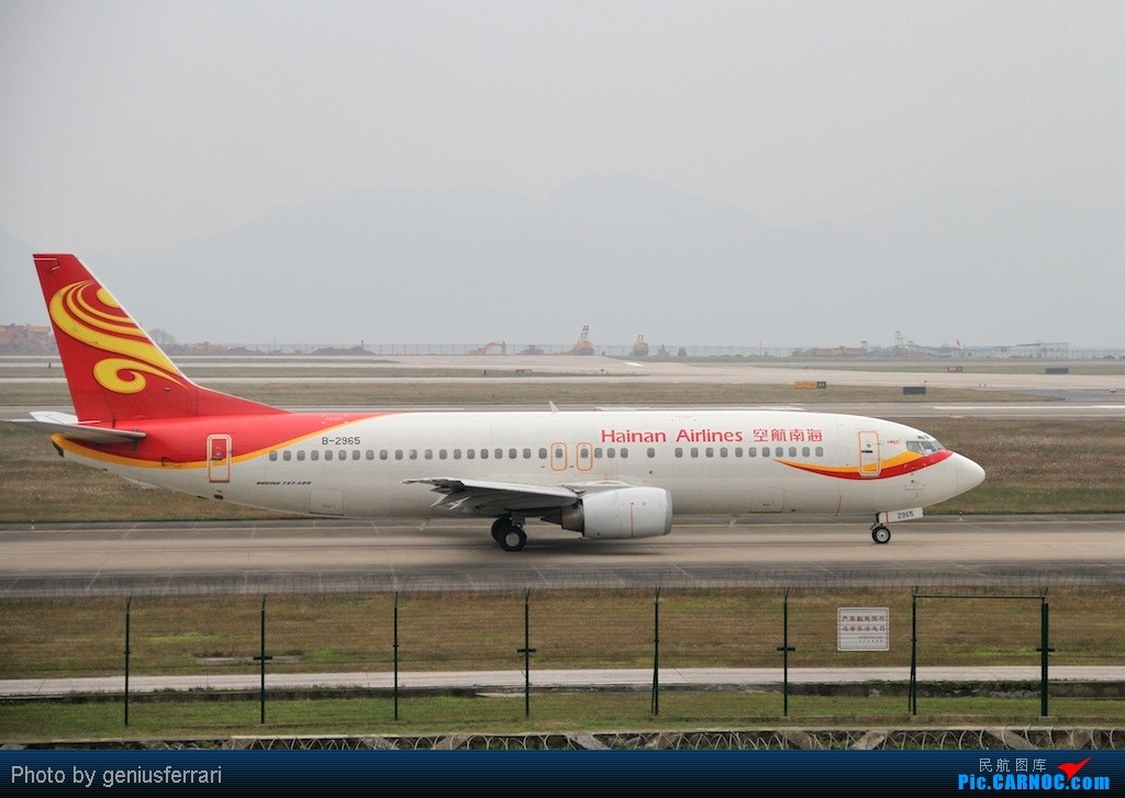 Re:[原创][CARNOC重庆飞友会]新年CKG,春运更给力 BOEING 737-400 B-2965 重庆江北国际机场