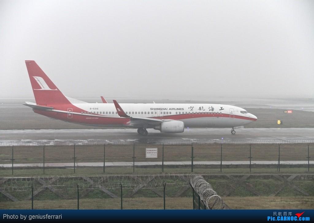 Re:[原创][CARNOC重庆飞友会]新年CKG,春运更给力 BOEING 737-800 B-5316 重庆江北国际机场