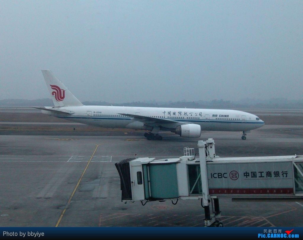 Re:[原创]假期结束了,回去开工了 1.30 CKG-CAN(CA330 B-6132) BOEING 777-200 B-2061 重庆江北机场