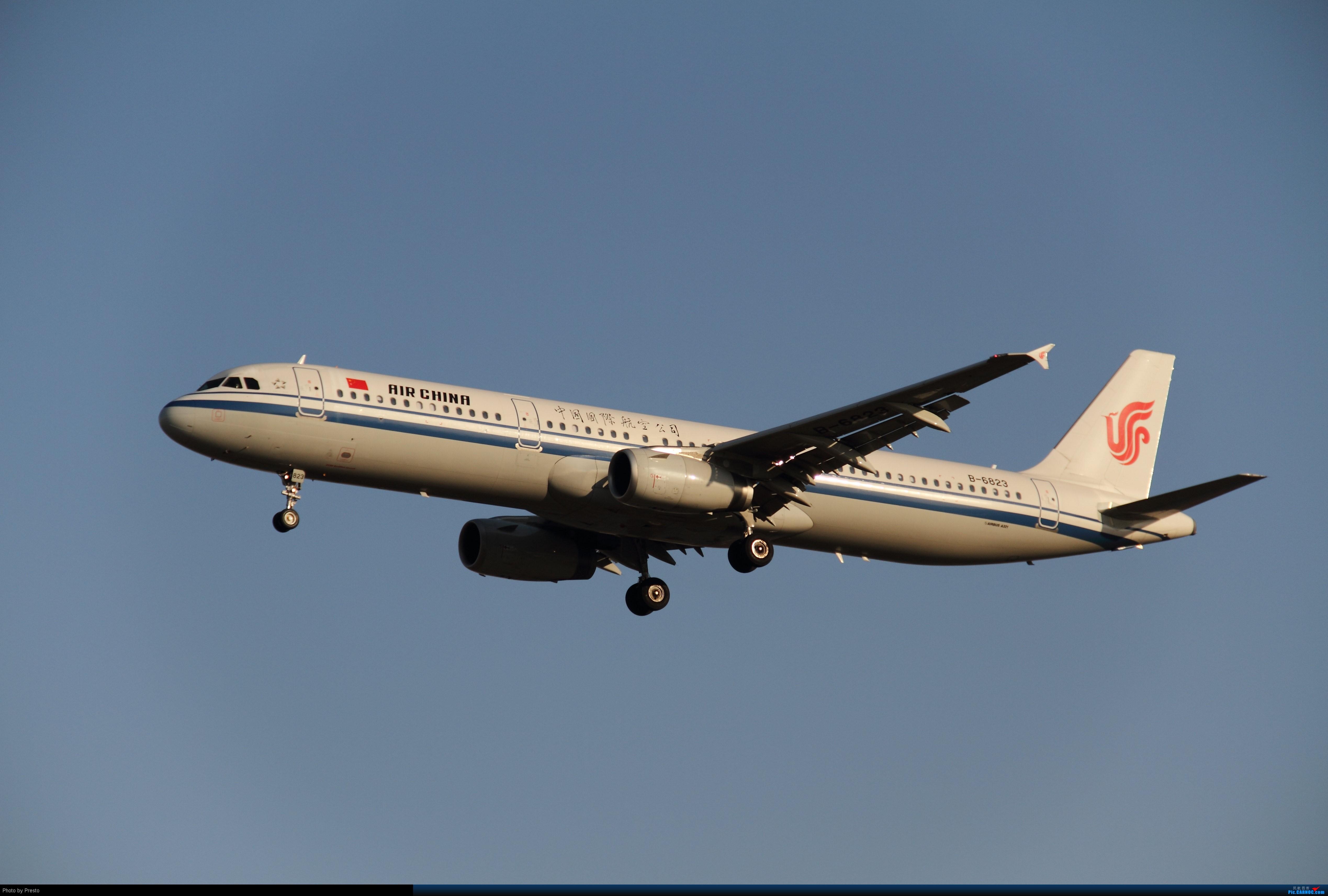 Re:[原创]2.2PEK 首次发图 虚心求教 AIRBUS A321-200 B-6823 中国北京首都机场