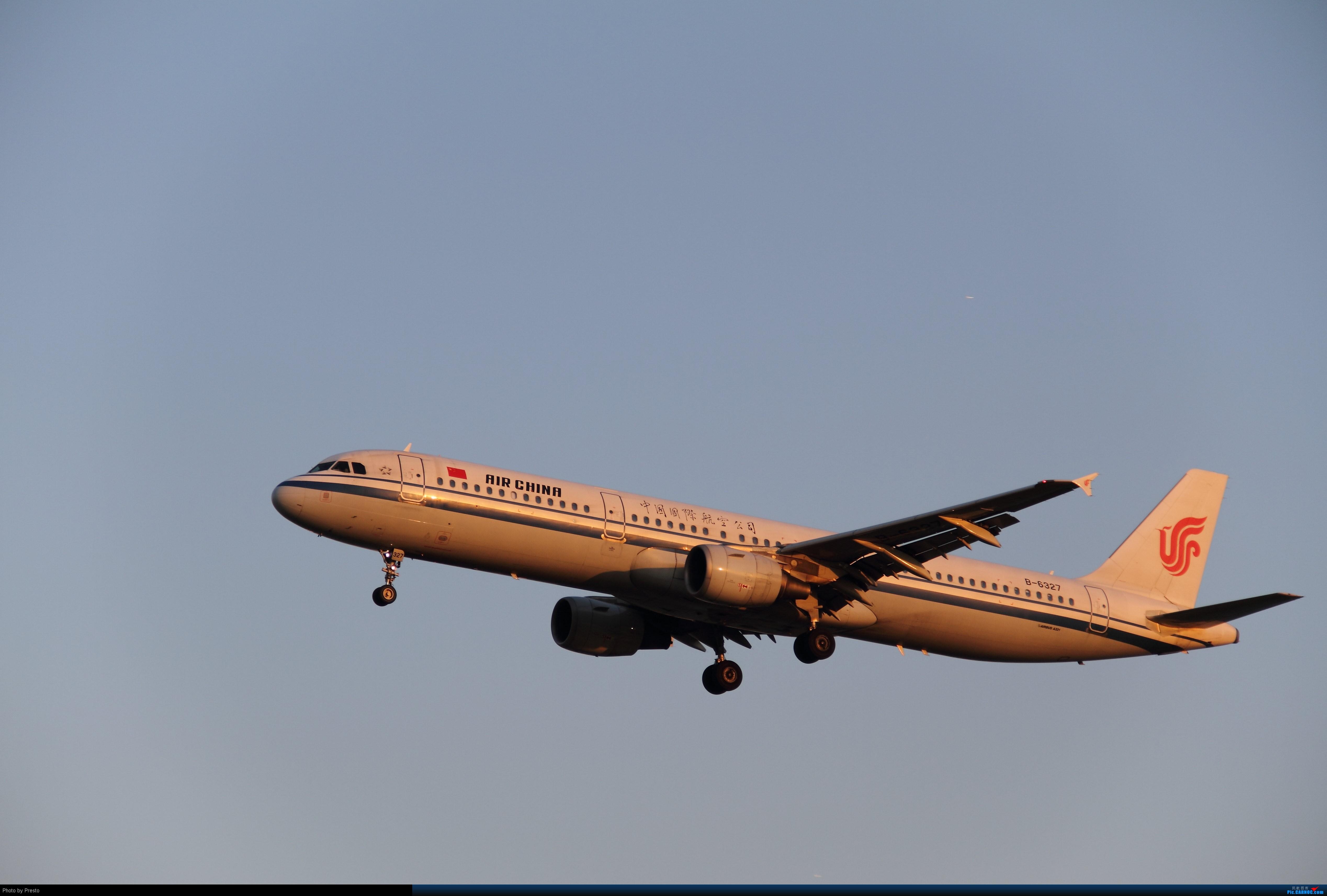 Re:[原创]2.2PEK 首次发图 虚心求教 AIRBUS A321-200 B-6327 中国北京首都机场