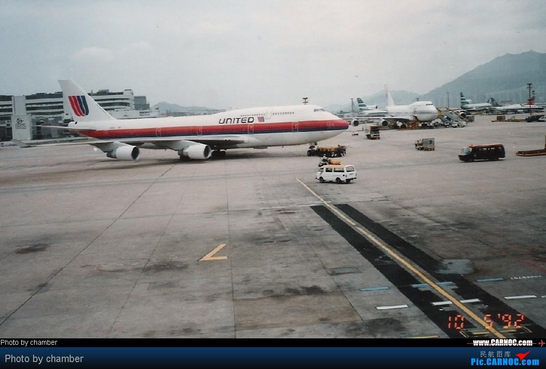 Re:[原创]纪念UA旧涂装 744  香港启德机场