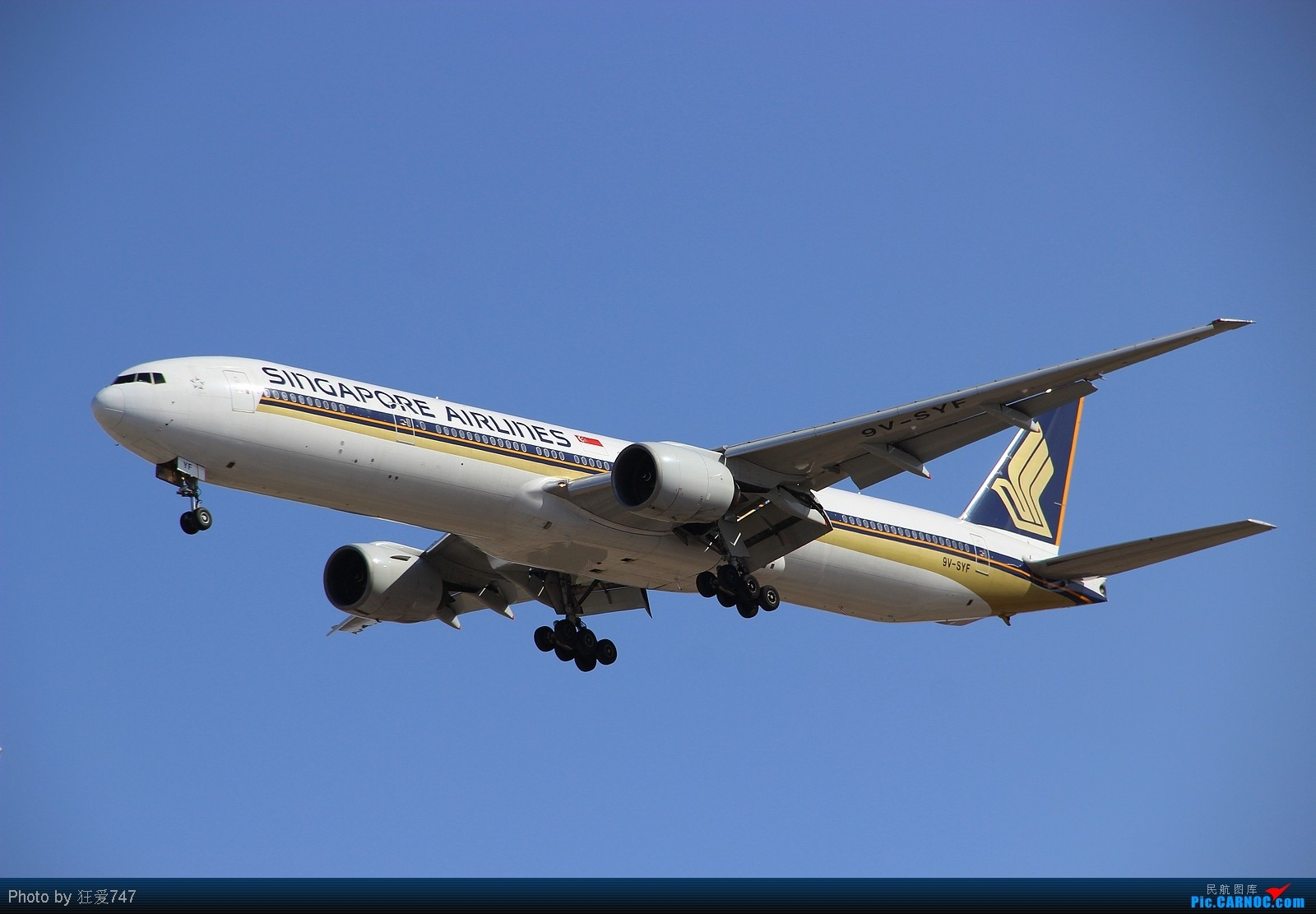 Re:[原创]今天转战西跑的一些收货。 BOEING 777-300 9V-SYF 中国北京首都机场