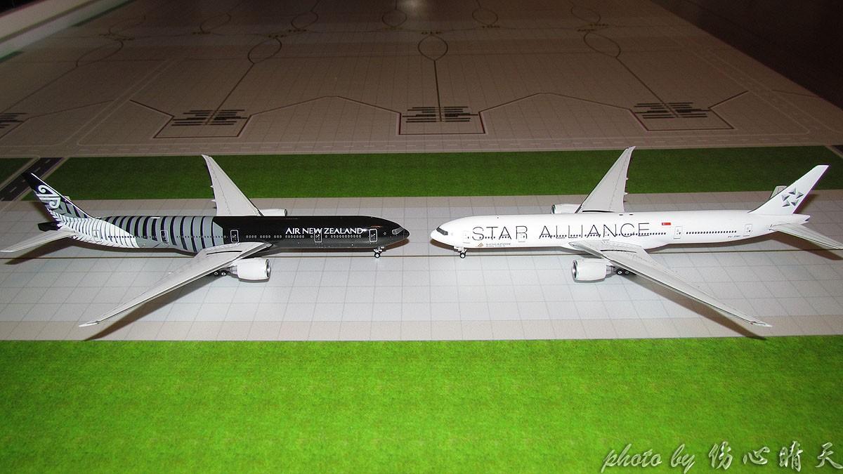 """[原创]【晴天模型】在新航大白机和""""新航""""大黑机出现在晴天国际机场之际,星盟、KITTY大聚会啦!"""