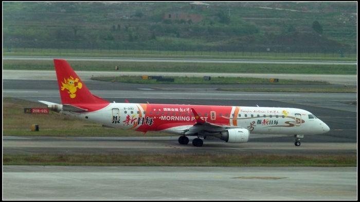 [原创]【新手拍机】CKG·重庆 EMBRAER ERJ-190 B-3161 重庆江北国际机场